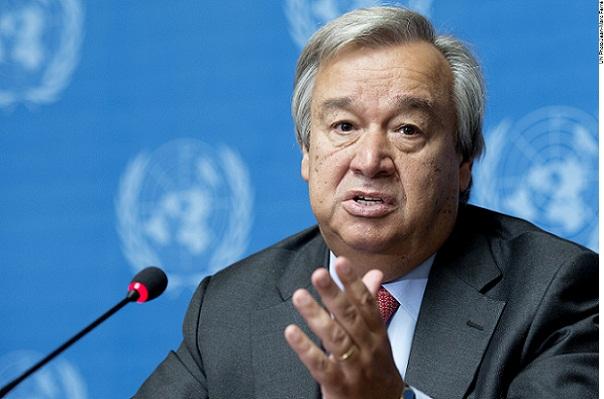 O Alto Comissário da ONU para Refugiados, António Guterres