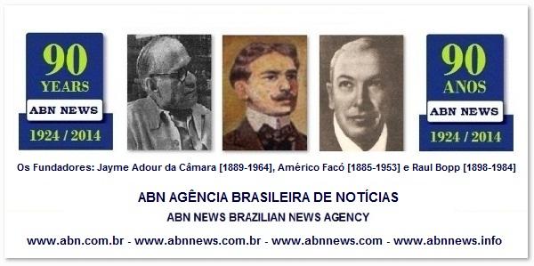 ABN NEWS 90 ANOS * Fundada em 1924 por Jayme Adour da Câmara [1889-1964], Américo Facó [1885-1953] e Raul Bopp [1898-1984]
