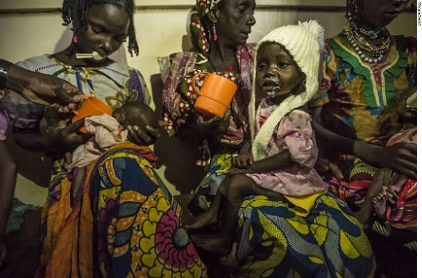 Malnourished children from Central African Republic