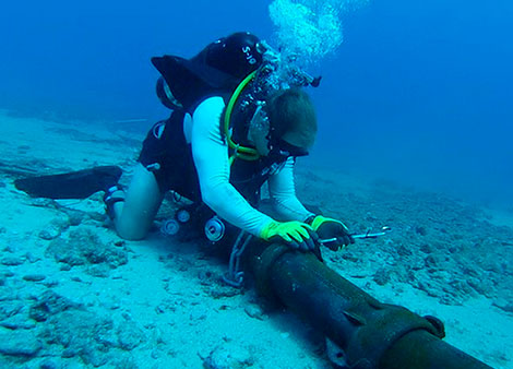 Cabo submarino com fibra óptica entre Angola e o Brasil